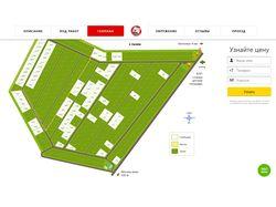Интерактивный генплан посёлка в SVG