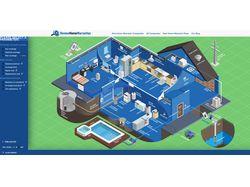 Вёрстка сайта-карты дома