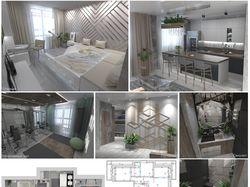 Интерьер квартиры. 109 м²