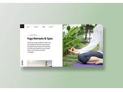Landing page Yoga Trips
