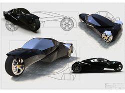 Проект 3-х колесного автомобиля