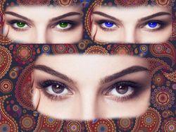 Замена цвета глаз
