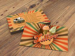 Фирм. стиль для фургончика с мороженым Lollipop