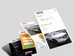 Дизайн и верстка сайта Winwincars