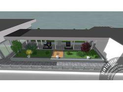 Дизайн крыши офисного центра