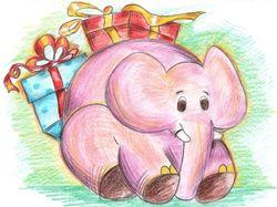 Слон-подарок