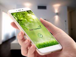 Логотип и дизайн мобильного приложения Garden