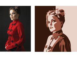Отрисовка в кореле по фотографии (поп-арт и т.п.)