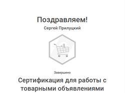 Сертификат Google Ads (Торговые кампании)