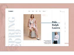 Дизайн страницы интернет-магазина одежды