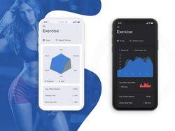 Activity sport tracker - App Design Concepts