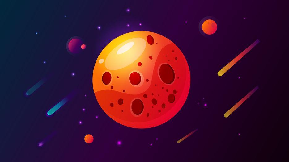 Планета с кратерами