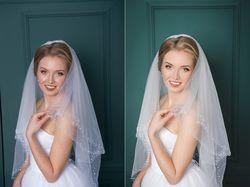 Ретушь свадебного фото для салона