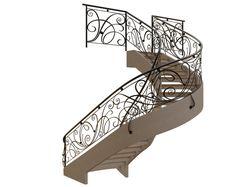 3D моделирование и визуализация лестницы