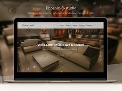 Сайт для студии по дизайну интерьера