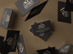 Логотип и дизайн визиток для агенства недвижимости