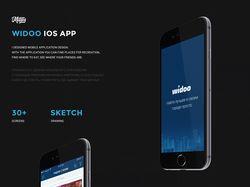 Дизайн приложения для социальной сети Widoo