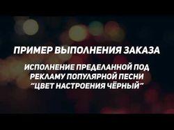 Исполнение переделанной под рекламу песни