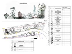 Кустарниково-цветочная композиция