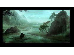 swamp - matte painting