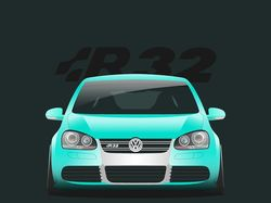 VW Golf MK5 R32 Stance project