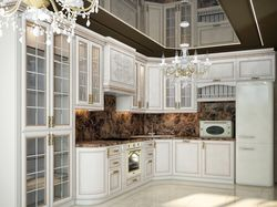 Проект кухни-гостиной в стиле современная классика