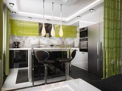 Проект кухни и гостиной в современном стиле