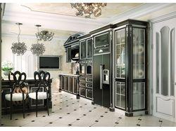 Проект кухни и столовой в стиле Ардеко