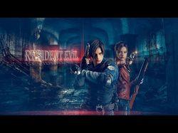 псд файл шапки для ютуб канала.Resident Evil.