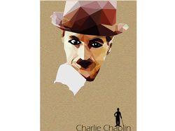Векторная иллюстрация портрета Чарли Чаплина