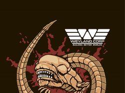 принт на футболку Alien