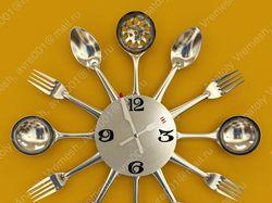 Часы для визуализации кухни