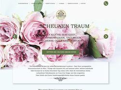 Vintage Homepage für Hochzeitsscheune / Eventscheu