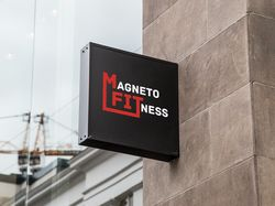 Логотип для фитнес-клуба Magneto Fitness