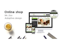"Адаптивный дизайн интернет-магазина ""Mr.Zoo"""