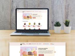 Дизайн главной страницы онлайн-магазина капкейков