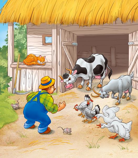 Картинка хлев для детей