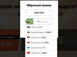 MaskInput, валидация телефона для стран СНГ