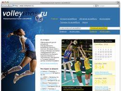 Дизайн волейбольного портала (продам)