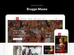 Концепт веб-сайта музеев в г. Брюгге