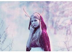 Фантазийный зимний портрет в Adobe Photoshop