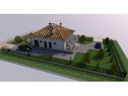 Проект дома для пригорода в Закарпатье