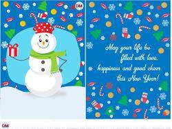 Векторные новогодние открытки