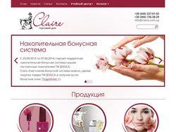 Промо-сайт с интернет-магазином для торгового дома