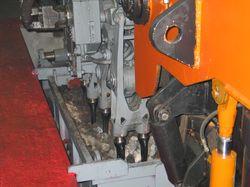 Стенд испытания шпалоподбивочной машины (фрагмент)