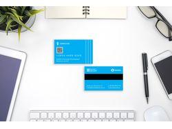 Визитка в стиле кредитной карты