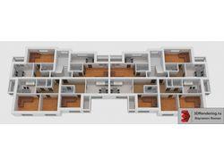 Моделирование и визуализация планировки этажа