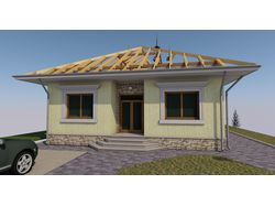 Проект одноэтажного жилой дома для пригорода
