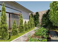 Ландшафтный дизайн участка с частным домовладением