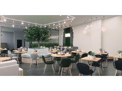 3d визуализация вегетарианского ресторана